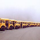Busses in the Morning Fog by clizzio