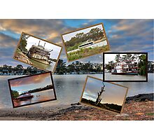 A collage of the Mighty Murray. Mannum Photographic Print