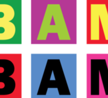 Barack Obama Raibow Blocks Sticker