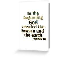 Genesis 1:1 Greeting Card