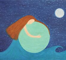 Mother Earth: Sea, Sky, Moon and Stars by Claudine Peronne