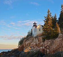Morning At Bass Harbor Light, Maine by Dan Hatch