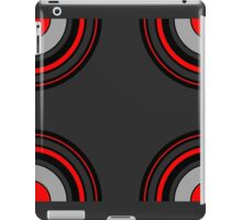 Circle Repeat Pattern Red Black and Grey  iPad Case/Skin