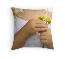 Just Three Throw Pillow