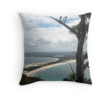 View of Jimmy's Beach Throw Pillow