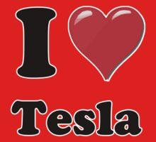 I Love Tesla Kids Clothes