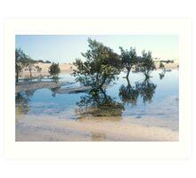 Stockton Bight Lagoons by Bernadette Smith (c) Art Print