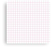 Pink Grid Canvas Print