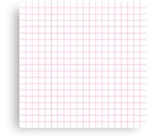 Pink Grid Canvas Print