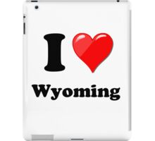 I Love Wyoming iPad Case/Skin