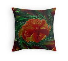 Spin Off of Red Beauty Throw Pillow