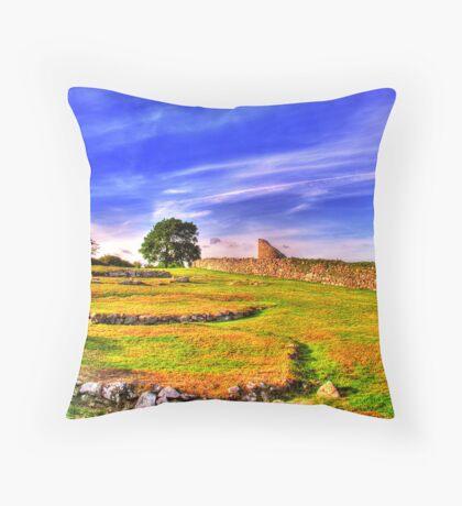 Nendrum Castle  Throw Pillow