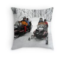 Snowmobiling Throw Pillow