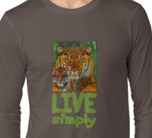 Live Simply Tiger Long Sleeve T-Shirt