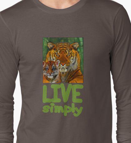 Live Simply Tiger Long Sleeve T-Shirt