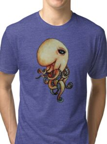 Sly Octopus Tri-blend T-Shirt