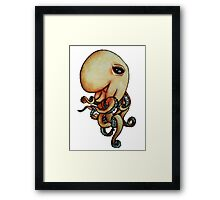 Sly Octopus Framed Print