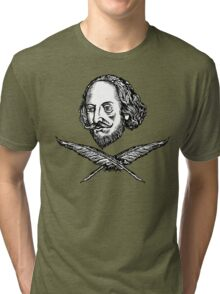 Shakespeare with Crossed Quilla Tri-blend T-Shirt