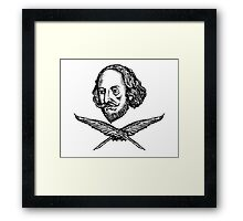 Shakespeare with Crossed Quilla Framed Print