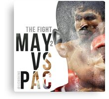 """Boxing - Mayweather vs Pacquiao """"The Fight"""" Canvas Print"""