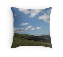 Classic of cows & sheep Throw Pillow
