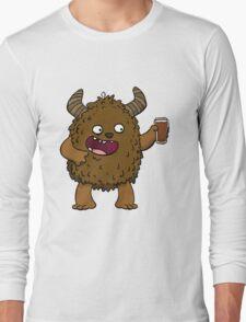 Brown Ale Beer Monster Long Sleeve T-Shirt