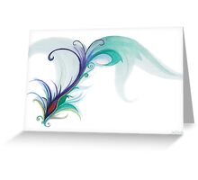 Peacock Dreams Greeting Card