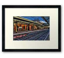 Cullercoats Metro Station Framed Print