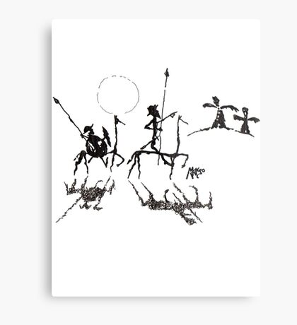 Don Quijote y Sancho Panza Metal Print