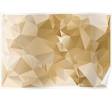 Cappuccino : Low-Poly Geometric Triangulated Design Poster