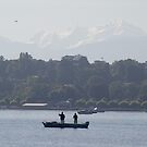 Two men in a boat by Nixter