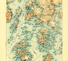 Maine USGS Historical Map Penobscot Bay 807612 1905 125000 by wetdryvac