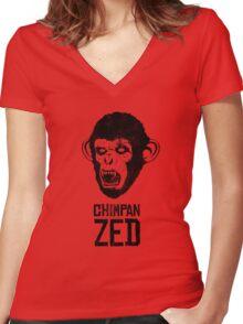 Chimpan ZED Women's Fitted V-Neck T-Shirt
