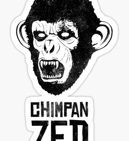 Chimpan ZED Sticker
