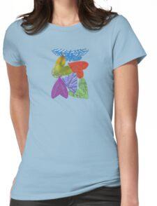 Rainbow Moths Womens Fitted T-Shirt