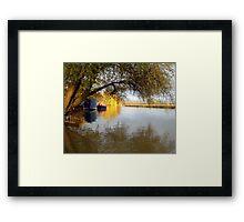 Near Dusk By The River Framed Print