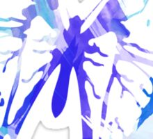 Blue Abstract Paint Pattern Sticker