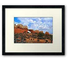 Broken Arch, Arches National Park, Utah, U.S.A. Framed Print