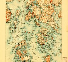 Maine USGS Historical Map Penobscot Bay 807613 1905 125000 by wetdryvac