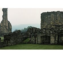 Fireplace in buildings Bylands Abbey North Yorkshire England Elite 198406020033 Photographic Print