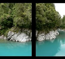 A Window Into the Hokitika Gorge by Larry Lingard-Davis