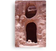 Petra Caves Canvas Print