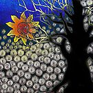 Midnight Sun on a Tree Ringed Sky by bajidoo