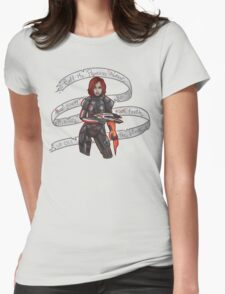 Commander Shepard Womens Fitted T-Shirt