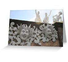 White sculptures Greeting Card