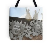 White sculptures Tote Bag