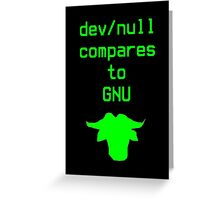 dev/null compares to GNU Greeting Card