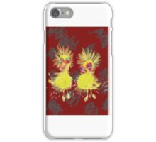 2 crazy looking chicks iPhone Case/Skin
