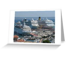 Berthing at Palma Harbour Greeting Card