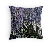 Wisteria given the Orton effect Throw Pillow